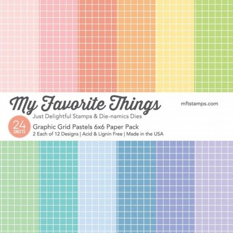 My Favorite Things Graphic Grids Pastels 6x6 Paper Pack