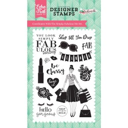 Echo Park Fashionista Simply Fabulous Clear Stamps