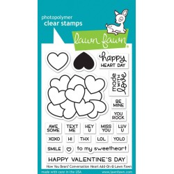 Lawn Fawn How You Bean? Conversation Heart Add-On Clear Stamps