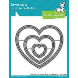Lawn Fawn Outside In Stitched Heart Stackables