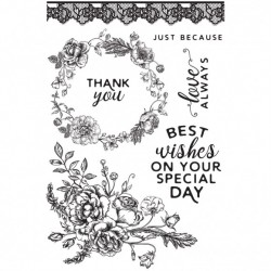 Kaisercraft clear stamp Sage and grace