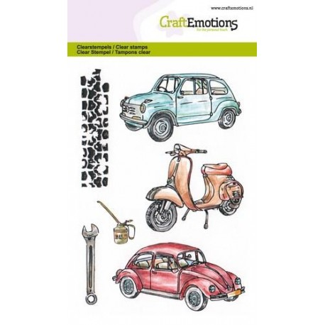 CraftEmotions clearstamps A6 - Classic Cars 2