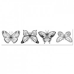 Stamperia Natural Rubber Stamps Butterflies