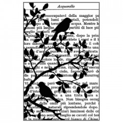 Stamperia Natural Rubber Stamp Birds in Tree