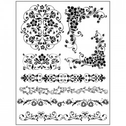 Stamperia Natural Rubber Stamps Bordures