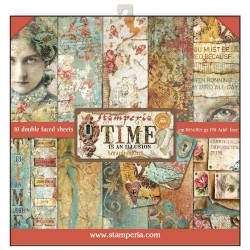 Stamperia Time is an Illusion 12x12 Inch Paper Pad