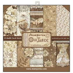 Stamperia Old Lace 12x12 Inch Paper Pack