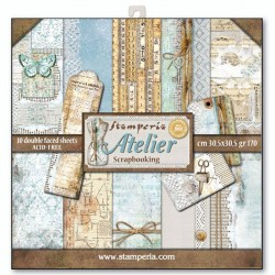 Stamperia Atelier 12x12 Inch Paper Pack
