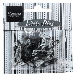 Marianne D Decoration Mini pins - Black & White JU0944 (New 01-15)