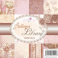 Wild Rose Studio 6x6 Paper Pack, Antique Library