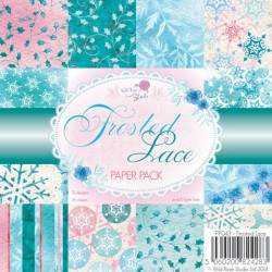 Wild Rose Studio 6x6 Paper Pack, Frosted Lace