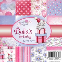 Wild Rose Studio 6x6 Paper Pack, Bella´s Birthday
