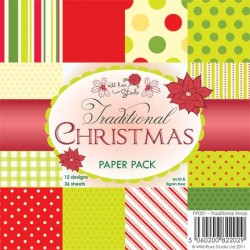 Wild Rose Studio 6x6 Paper Pack, Traditional Christmas