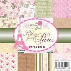 Wild Rose Studio - 6''x 6'' Paper Pack - Letters from Paris