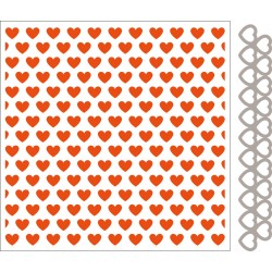 Marianne D Embossing folder + die Hearts DF3413