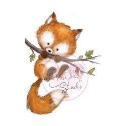 Wild Rose Studio`s A7 stamp set Fox on Branch