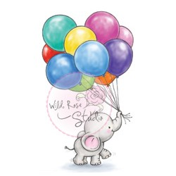 Wild Rose Studio`s A7 stamp set Bunch of Balloons