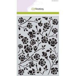 CraftEmotions Mask stencil Botanical Rosen A5