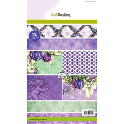 CraftEmotions Paper stack Purple Holiday 32 Bogen A5
