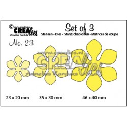 Crealies Set of 3 no. 23 Flowers 14