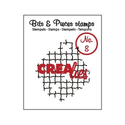 Crealies Clearstamp Bits&Pieces no. 08 Broken mesh